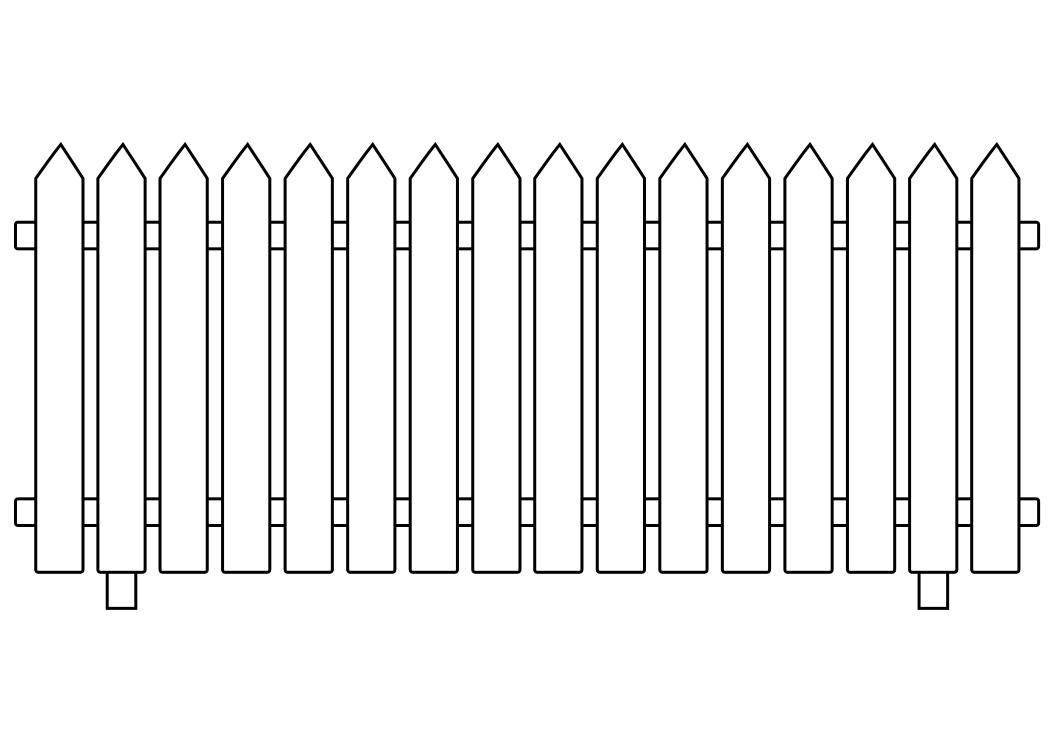 White picket fence clipart 4 » Clipart Station.