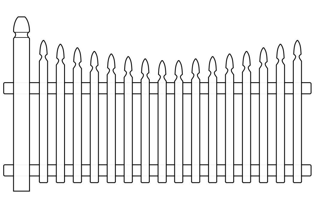 White picket fence clipart 5 » Clipart Station.