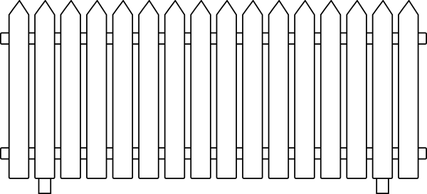 White picket fence clipart 2 » Clipart Station.