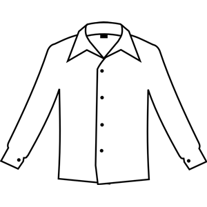 Simple white shirt clipart, cliparts of Simple white shirt.
