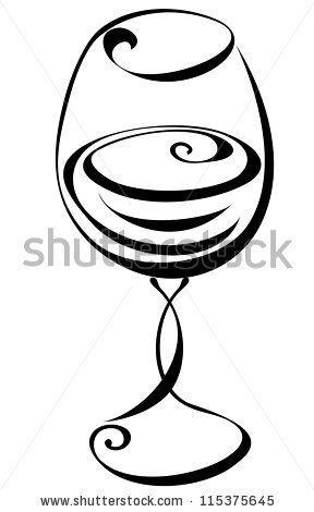 Wine Glass Silhouette Stock Images, Royalty.