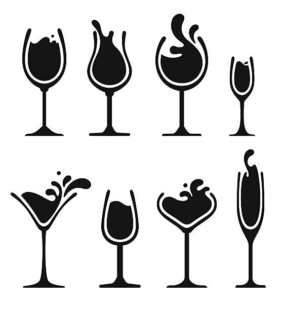 Glass Wine Clip Art, Vector Images & Illustrations.