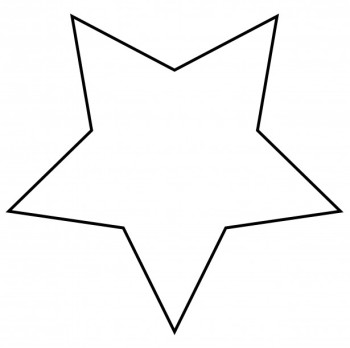 Clipart black and white star » Clipart Station.