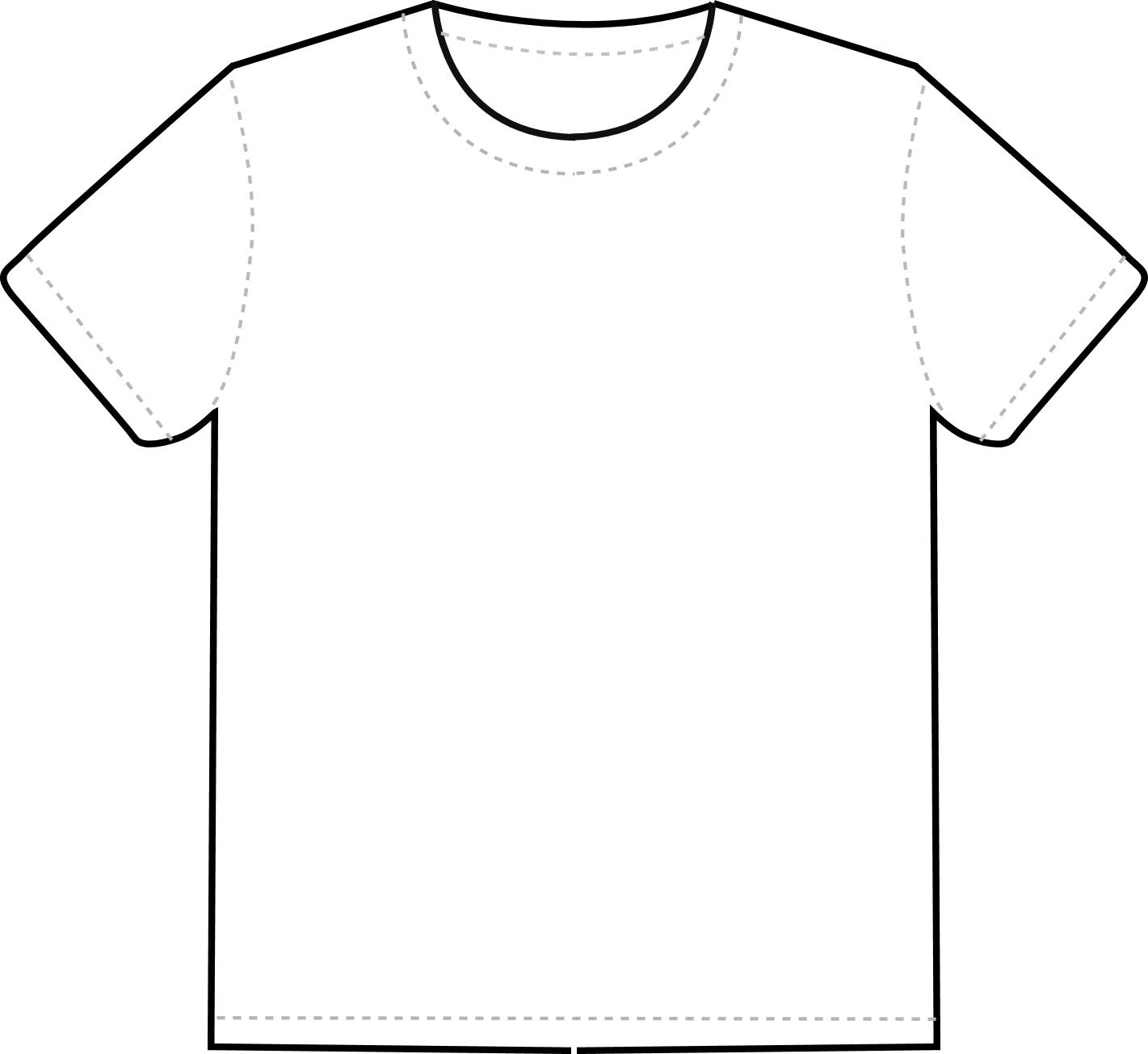 White t shirt clip art.