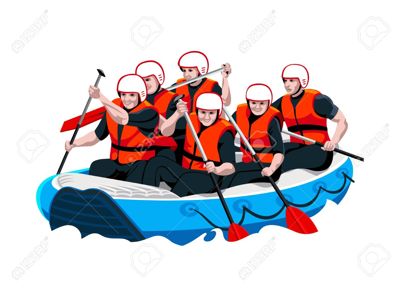 Clipart white water rafting 4 » Clipart Station.