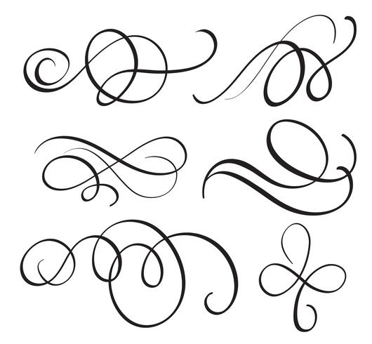 art calligraphy flourish of vintage decorative whorls for.