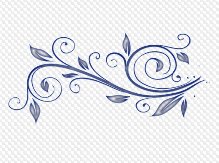 Curl Clipart 50 PNG Images PSD file.