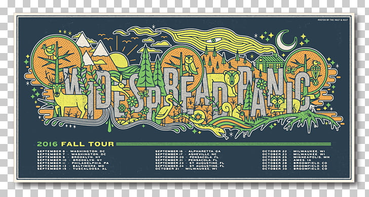 Widespread Panic 2009 Concert Tour Poster Printing, round.