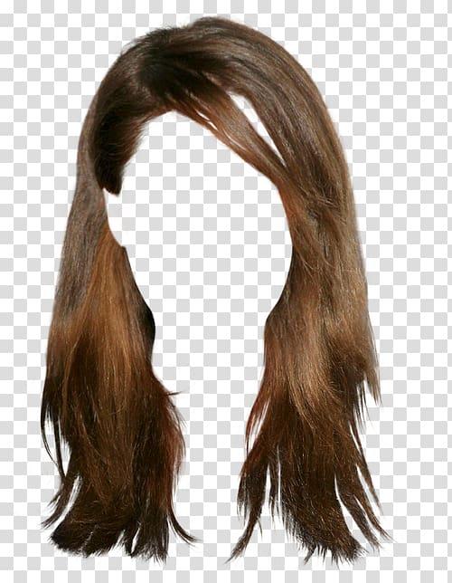 Woman\'s brown hair, Wig Hairstyle Brown hair, wig.