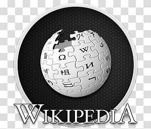 Wikipedia Logo transparent background PNG cliparts free.