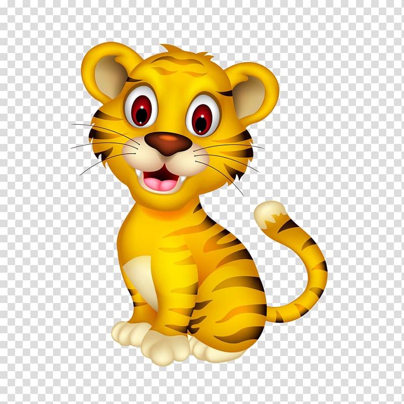 Yellow tiger , Tiger Wildcat , tiger transparent background.