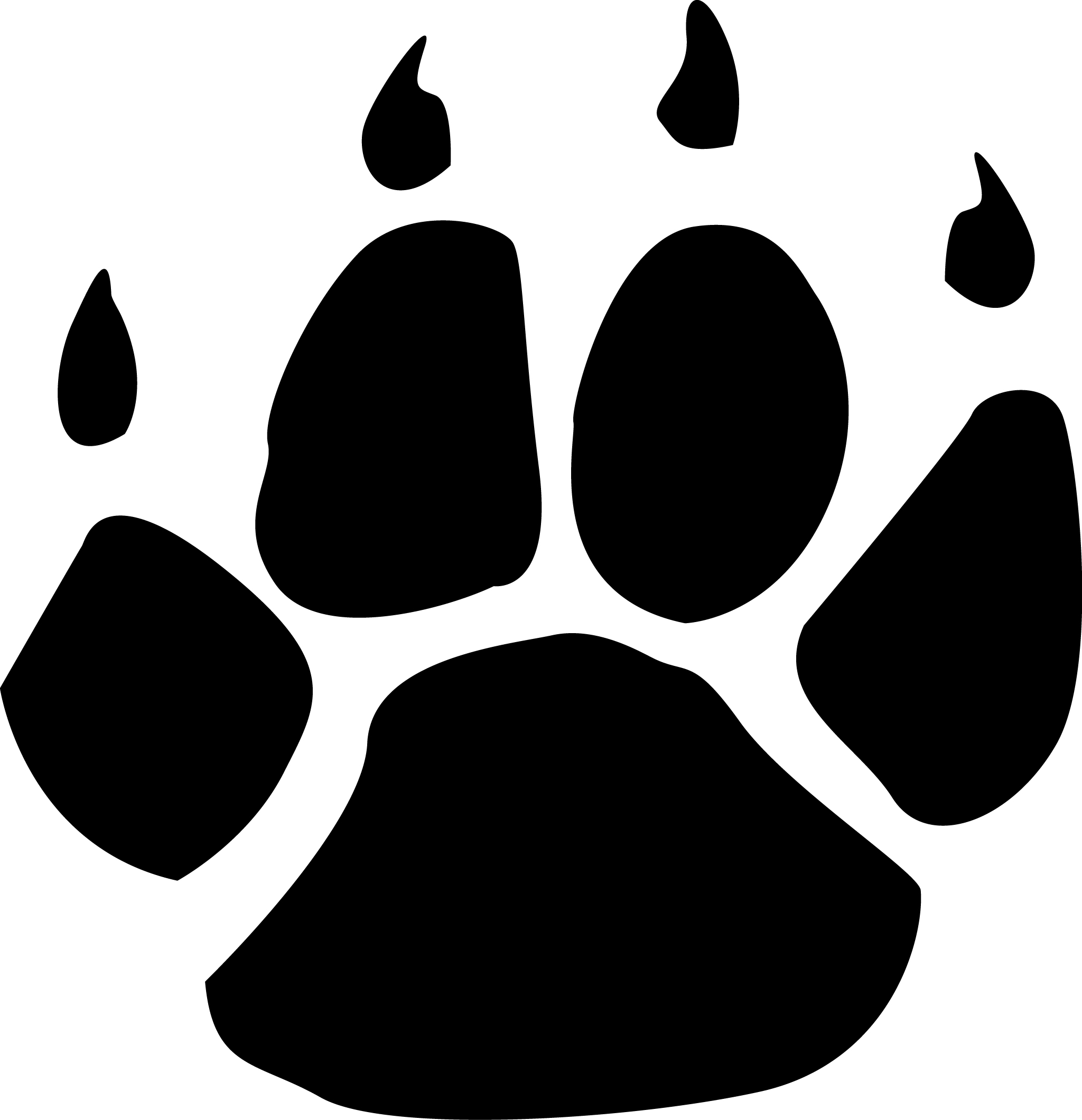 Free Wildcat Paw Png, Download Free Clip Art, Free Clip Art.