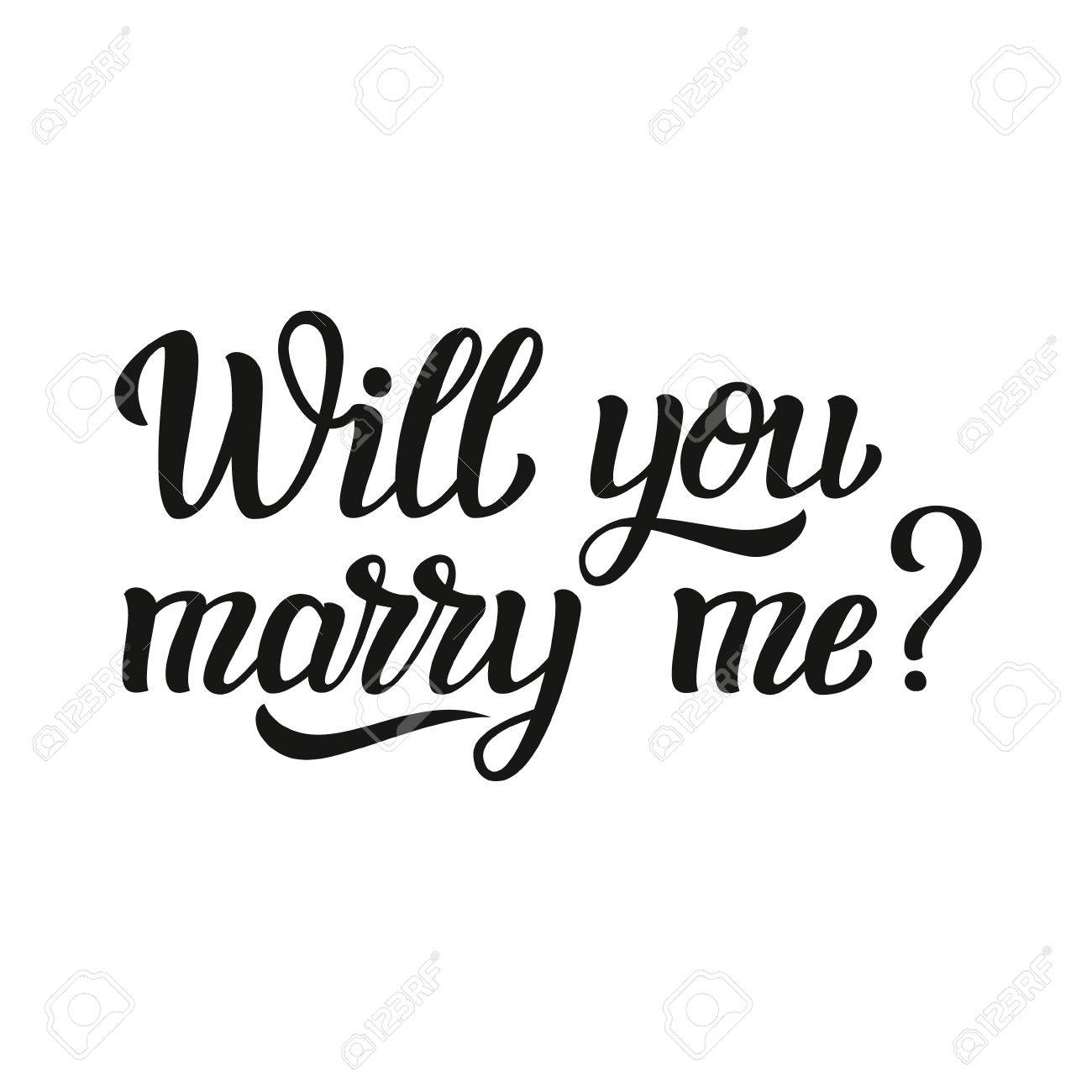 Free Will You Marry Me Clipart.