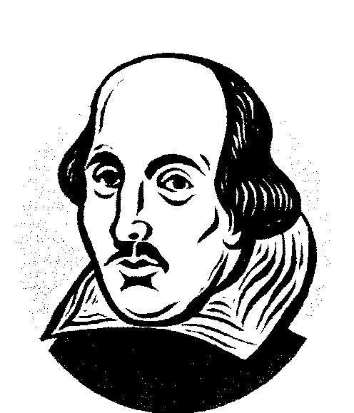 William Shakespeare Cliparts 1.