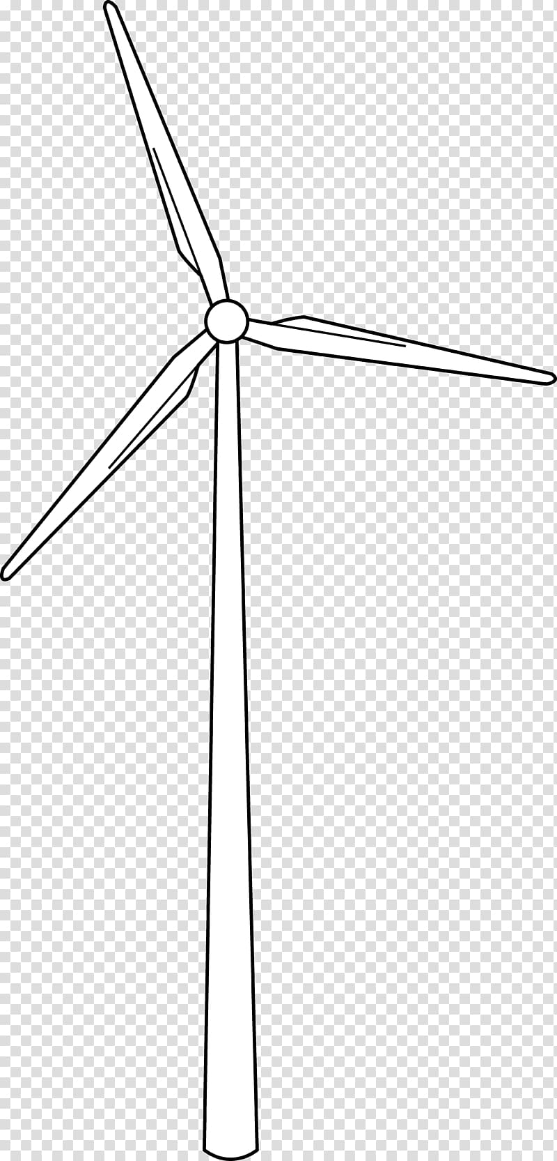 Wind farm Wind turbine Wind power Drawing, windmill.