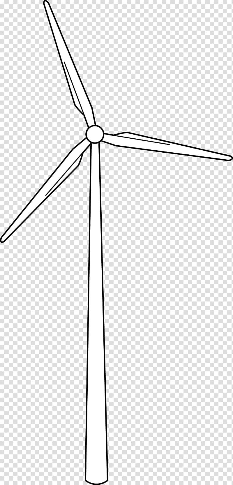Wind farm Wind turbine Wind power Drawing, windmill.