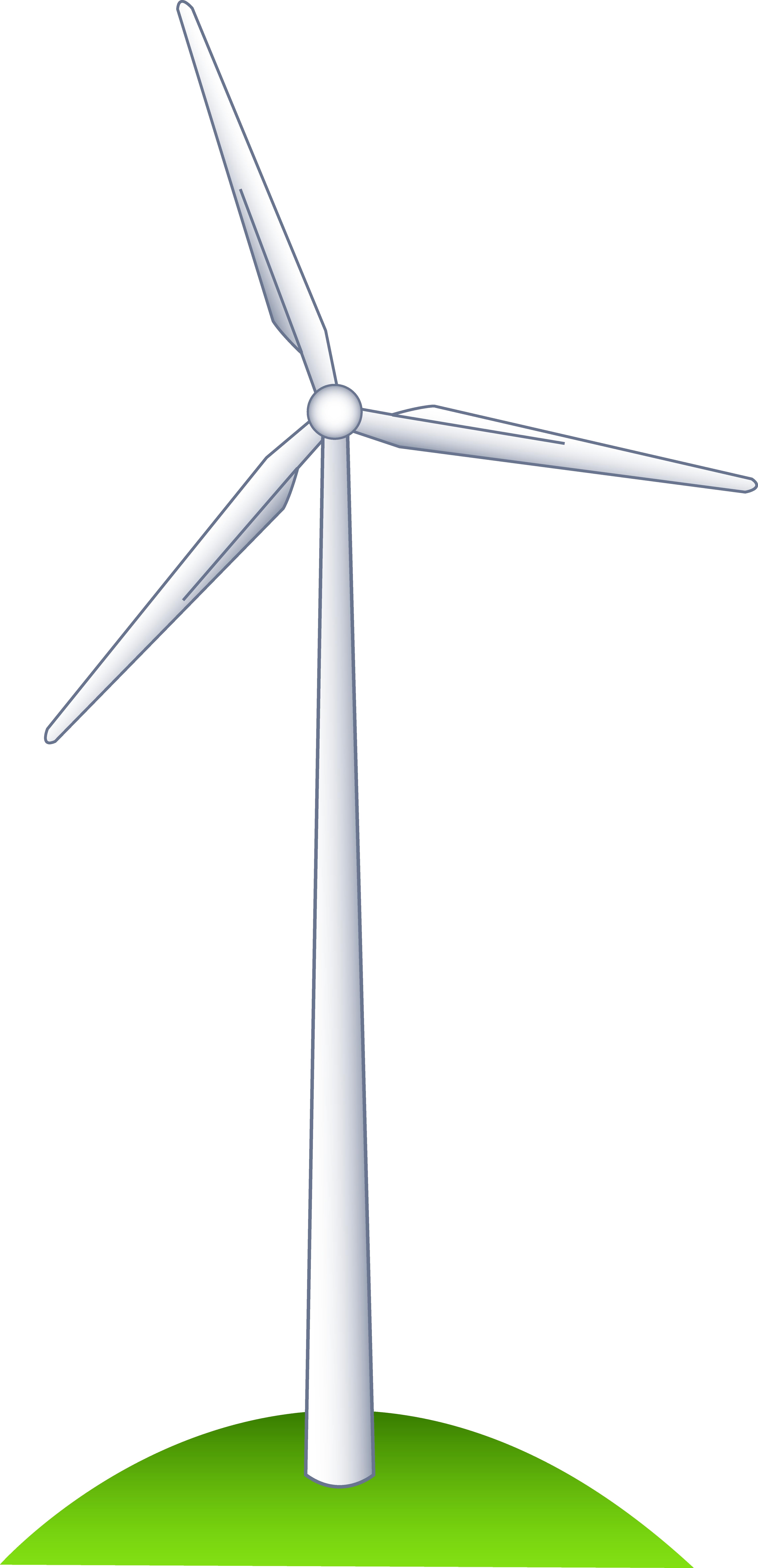 Wind Turbine on a Hill.