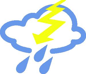 Thunder Storms Weather Symbol Clip Art at Clker.com.