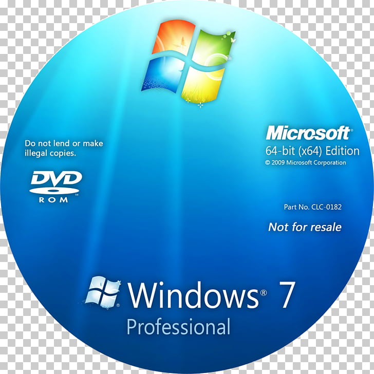 Windows 7 Installation Compact disc 64.