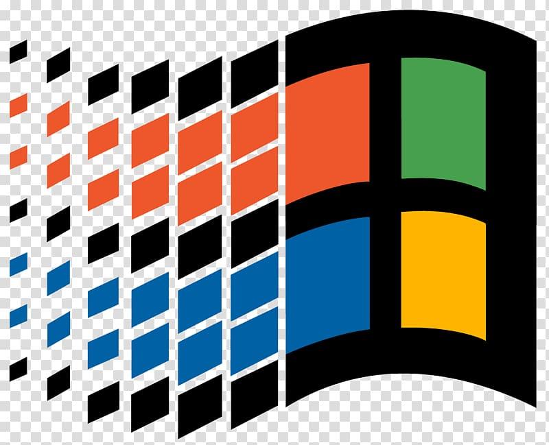 Square multicolored logo, Windows 95 Microsoft Logo Windows 1.0.
