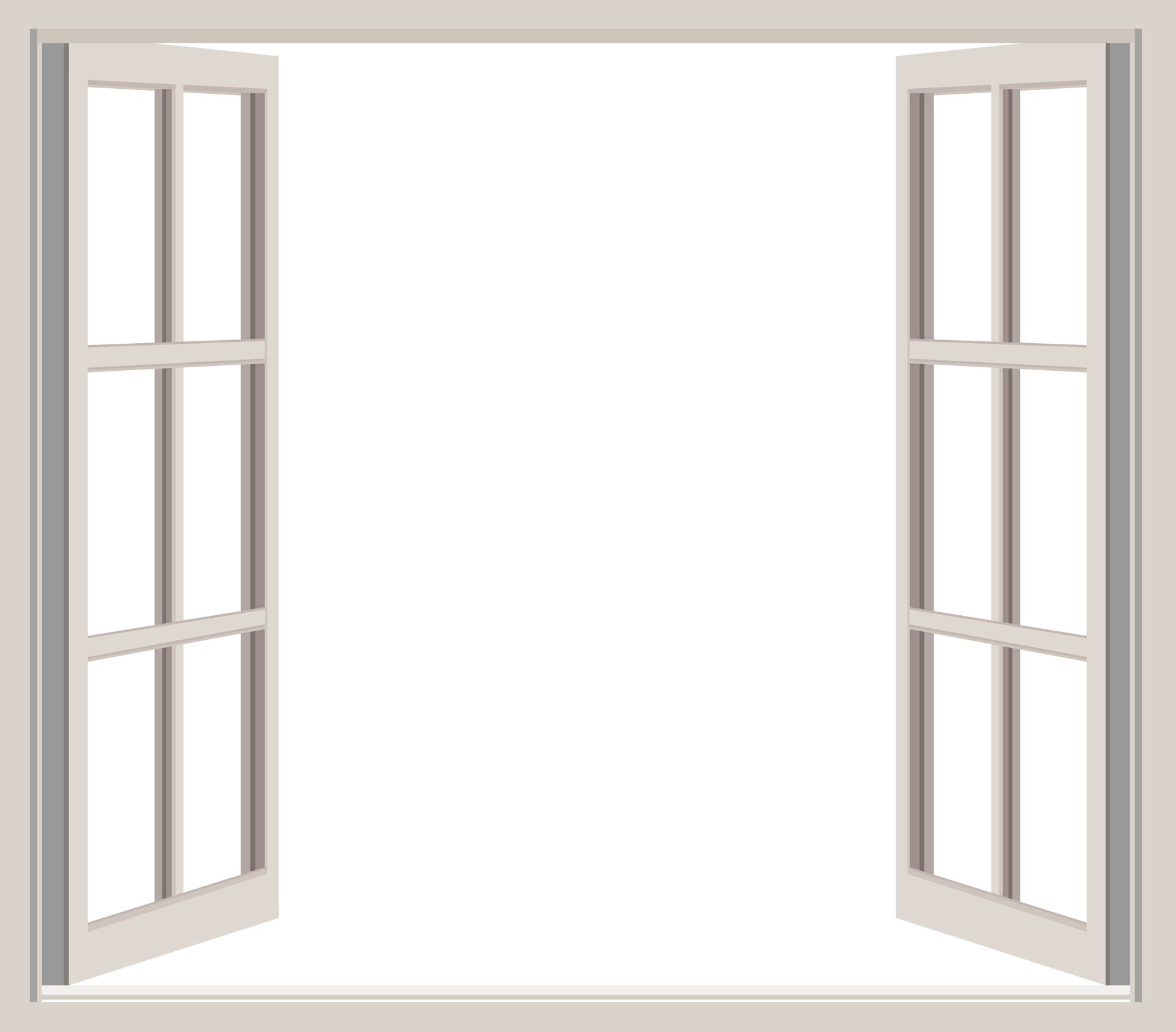 Open Window Frame Clipart Free Stock Photo.