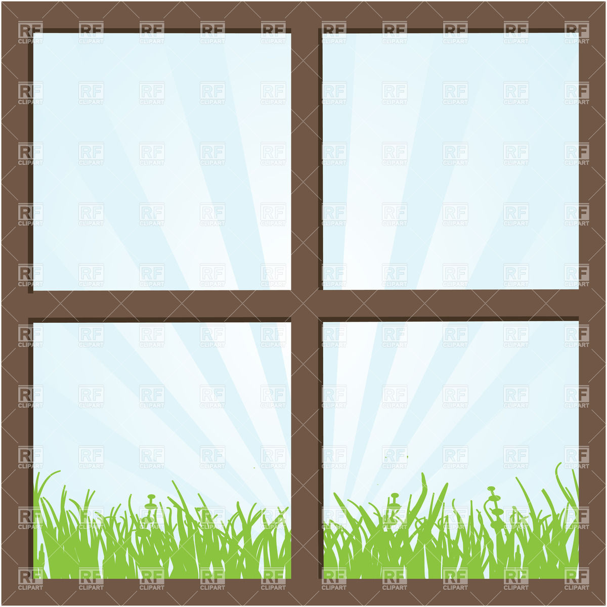 5819 Window free clipart.