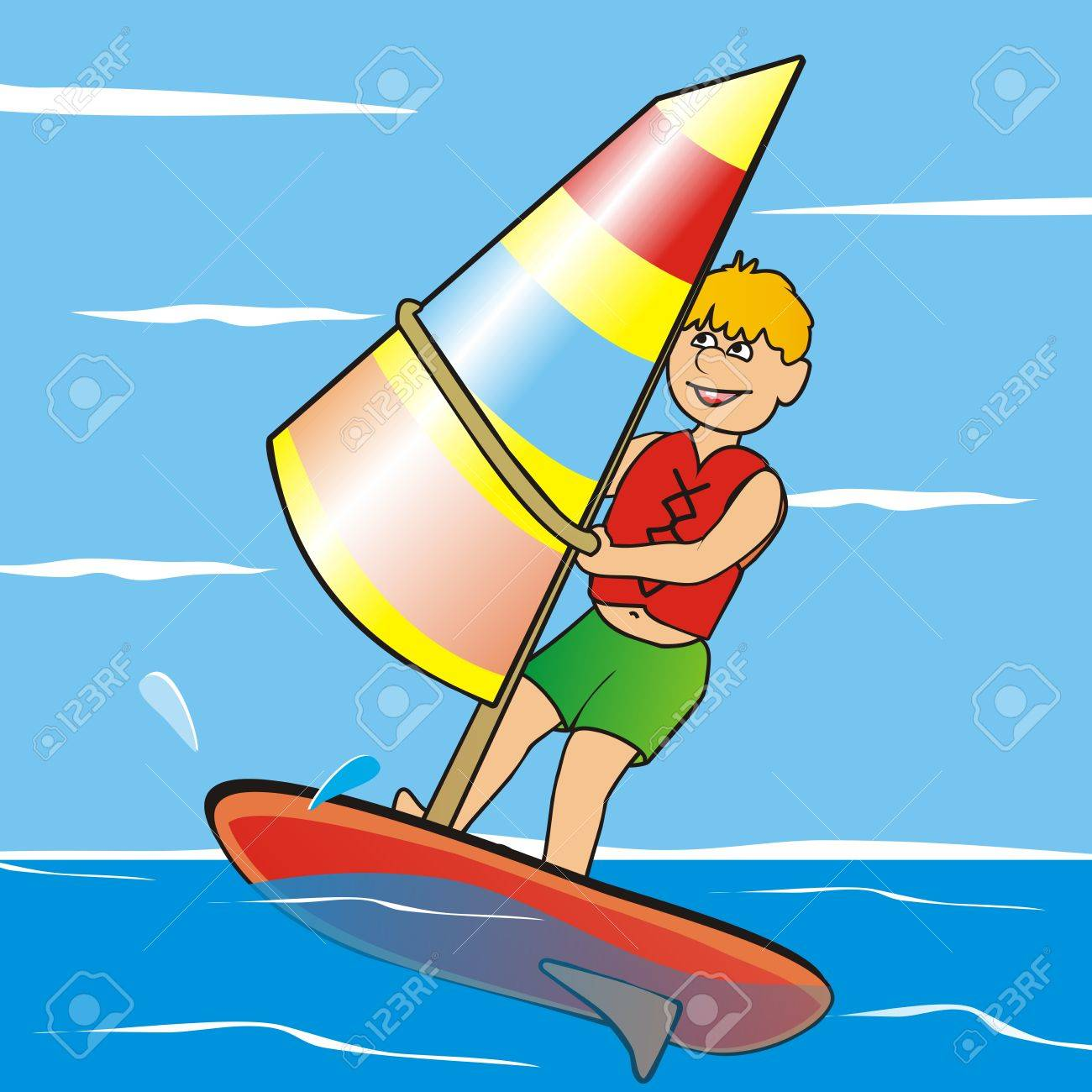 Windsurfing clipart 7 » Clipart Station.