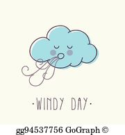 Windy Day Clip Art.