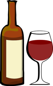 Glass Of Wine With Wine Bottle Clip Art at Clker.com.
