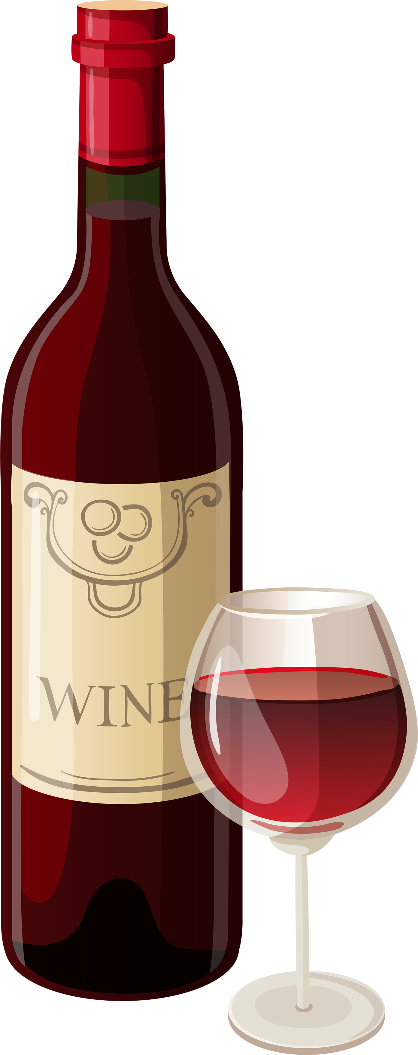 Image result for wine bottle and glass clip art.