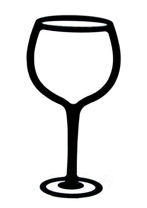 1357 Wine Glass free clipart.