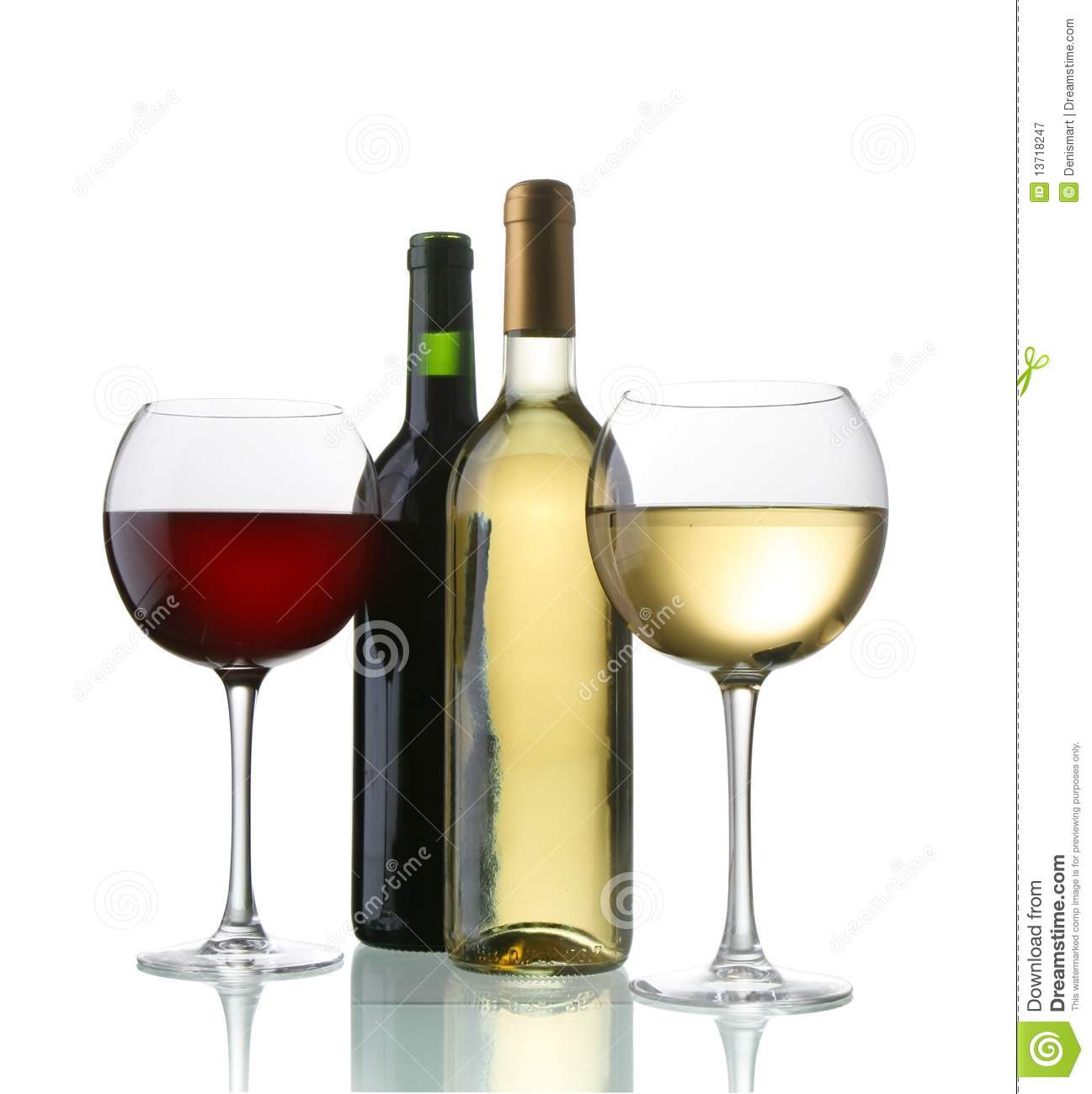 Wine bottles and glasses stock image. Image of glass.