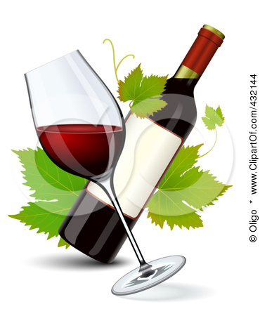 Free Clipart Wine Bottle And Glass & Free Clip Art Images #13750.