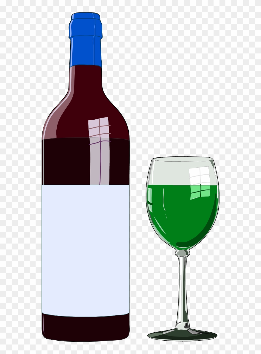 Wine Bottle And Wine Glass.