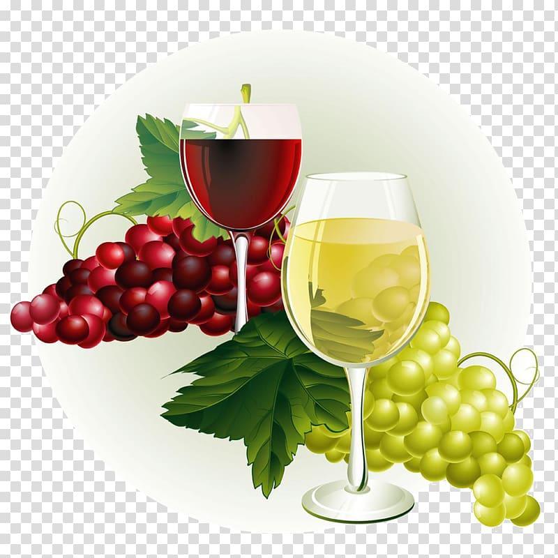 Wine Common Grape Vine , Wine grapes transparent background.