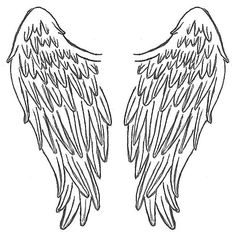 Angel wings on angel wings angel wing tattoos and wings clip.