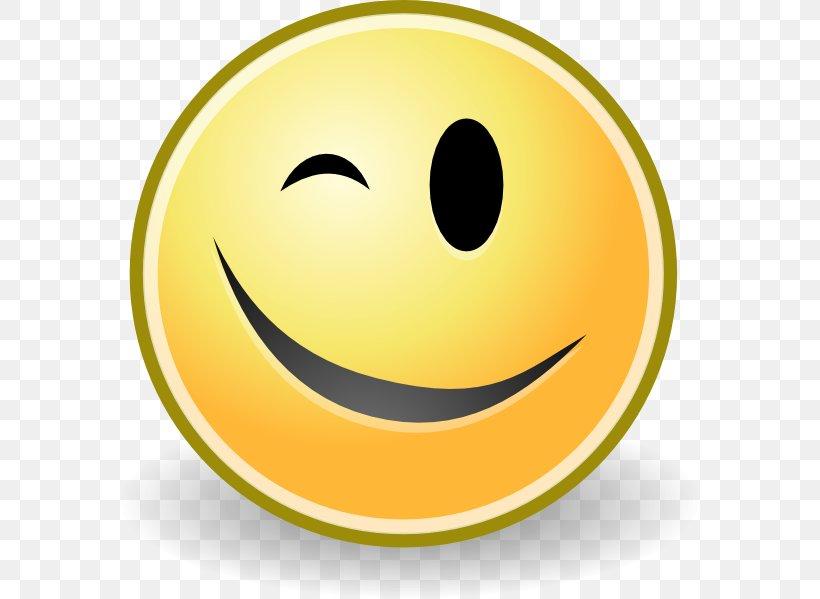 Wink Smiley Emoticon Clip Art, PNG, 582x599px, Wink, Emoji.