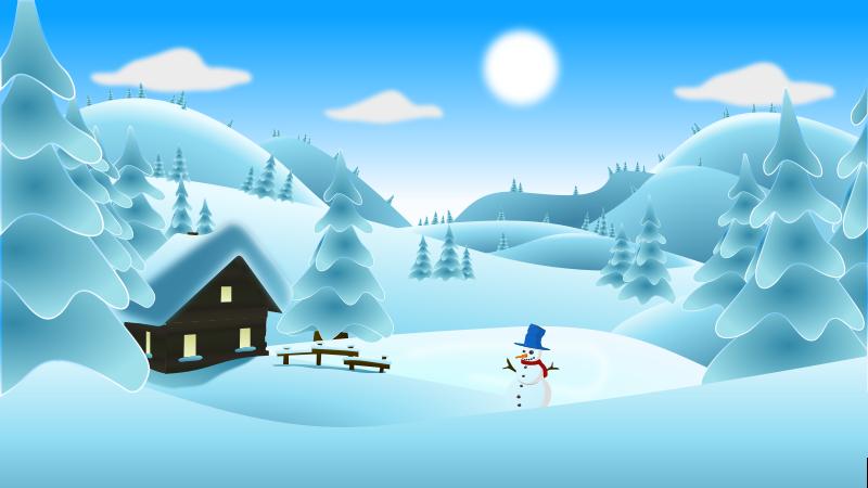 Free Clipart: Winter Landscape.