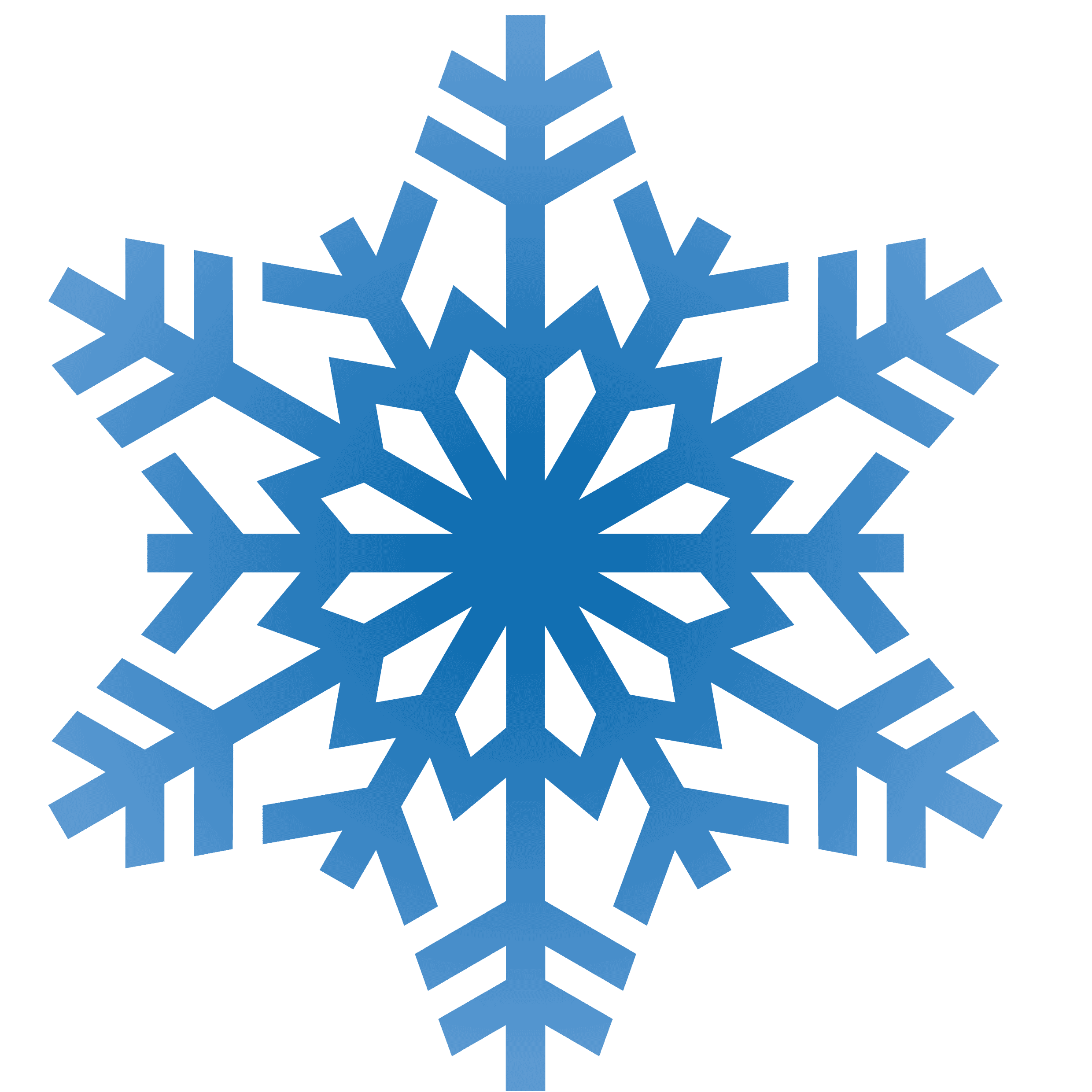 Snowflake Outline With Clipart Simple Snowflakes Scene Outline.