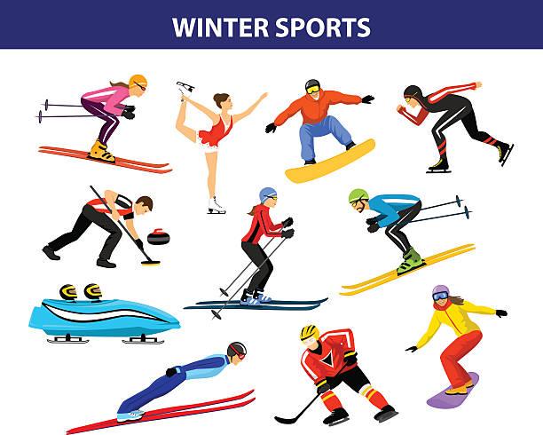 Best Winter Sport Illustrations, Royalty.