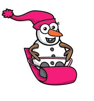 Clipart: Winter Sports Snowman.