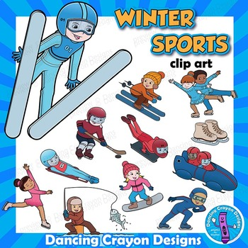 Winter Sports Clip Art Kids.