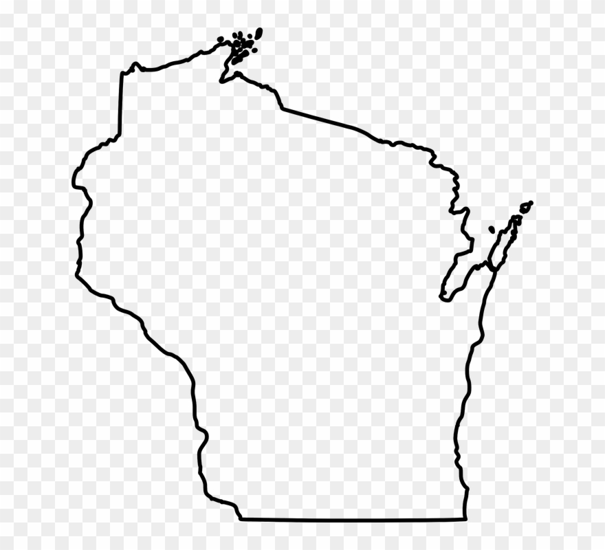 Large Outline Of Wisconsin Clipart (#175056).