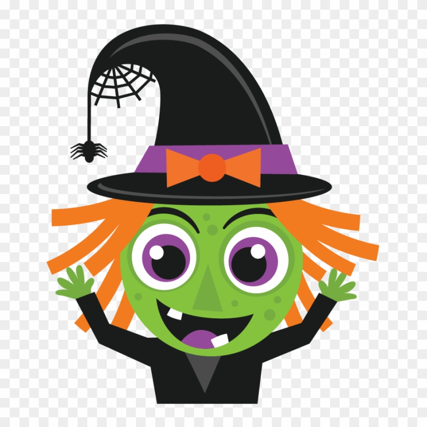 Halloween Witch Svg Scrapbook Cut File Cute Clipart.