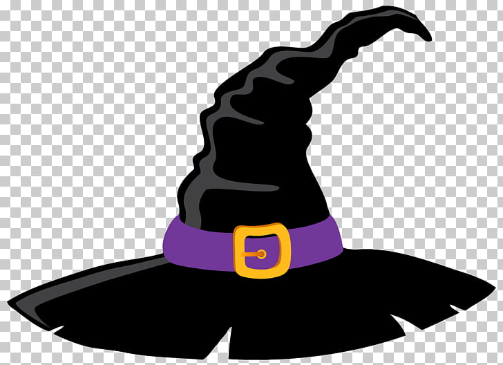 Hat Purple Silhouette , Witch Hat and Purple , black and.