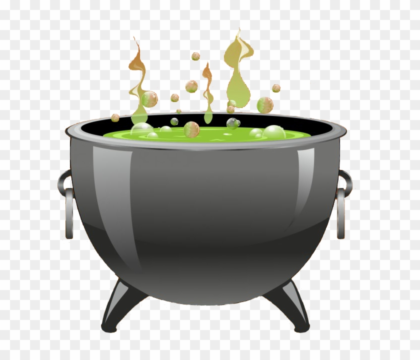 Witch Pot Halloween Clipart.