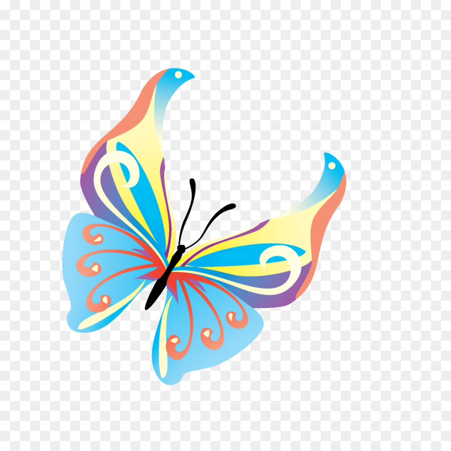 Butterfly clip art clear background.