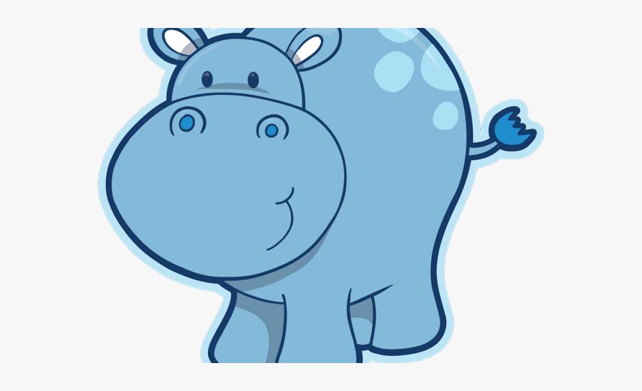 Hippo Clipart Transparent Background.