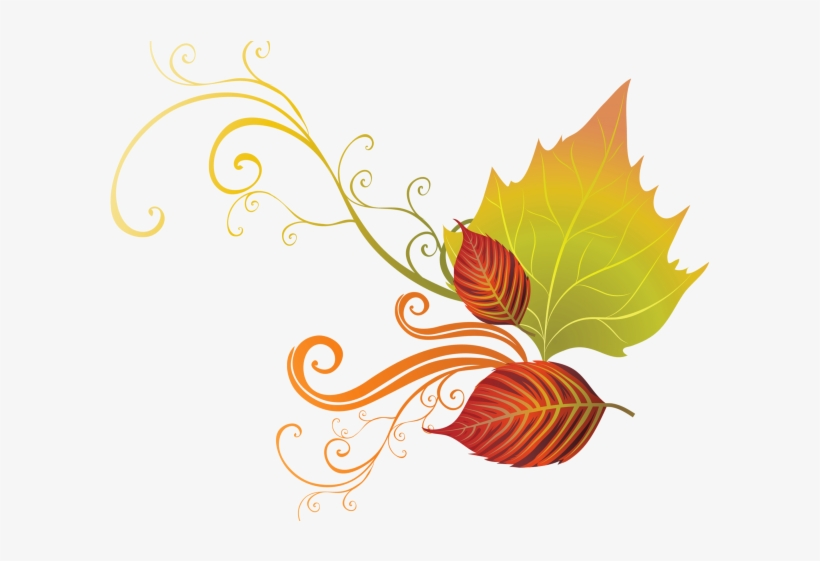 Autumn Leaves Clipart Corner Border.