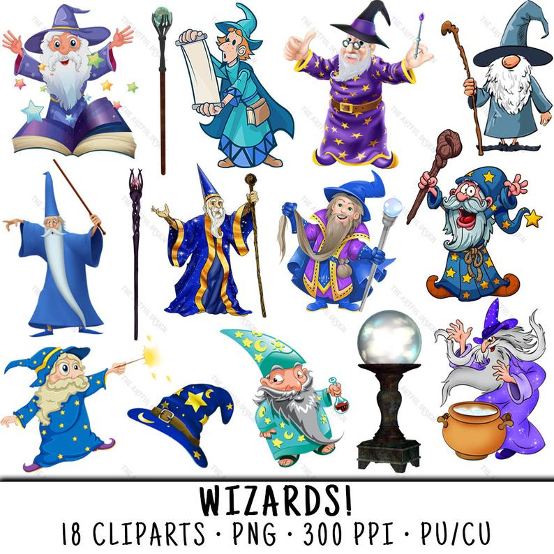 Wizard Clipart, Magician Clipart, Wizard Clip Art, Magician Clip Art,  Wizard PNG, PNG Magician, Clipart Wizard, Clipart Magician,.